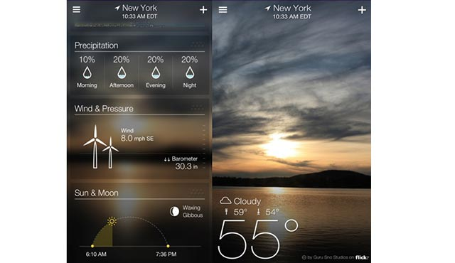 Yahoo Weather - Best ios Apps 2016 - top 10 cool apps for your apple phone